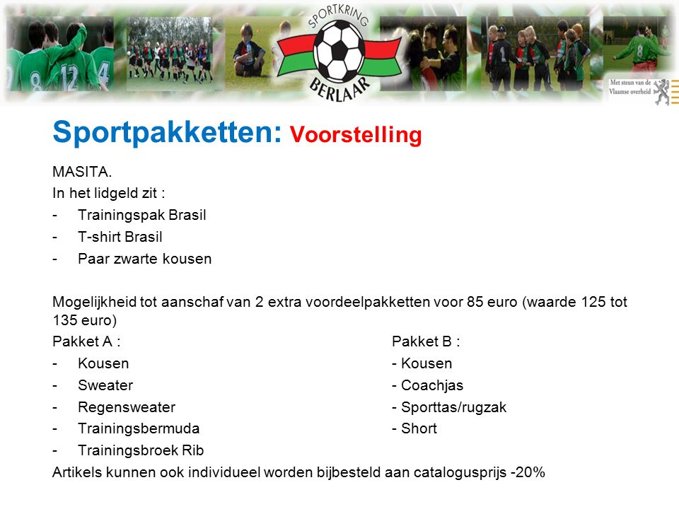 Sportpakketten: Voorstelling MASITA.