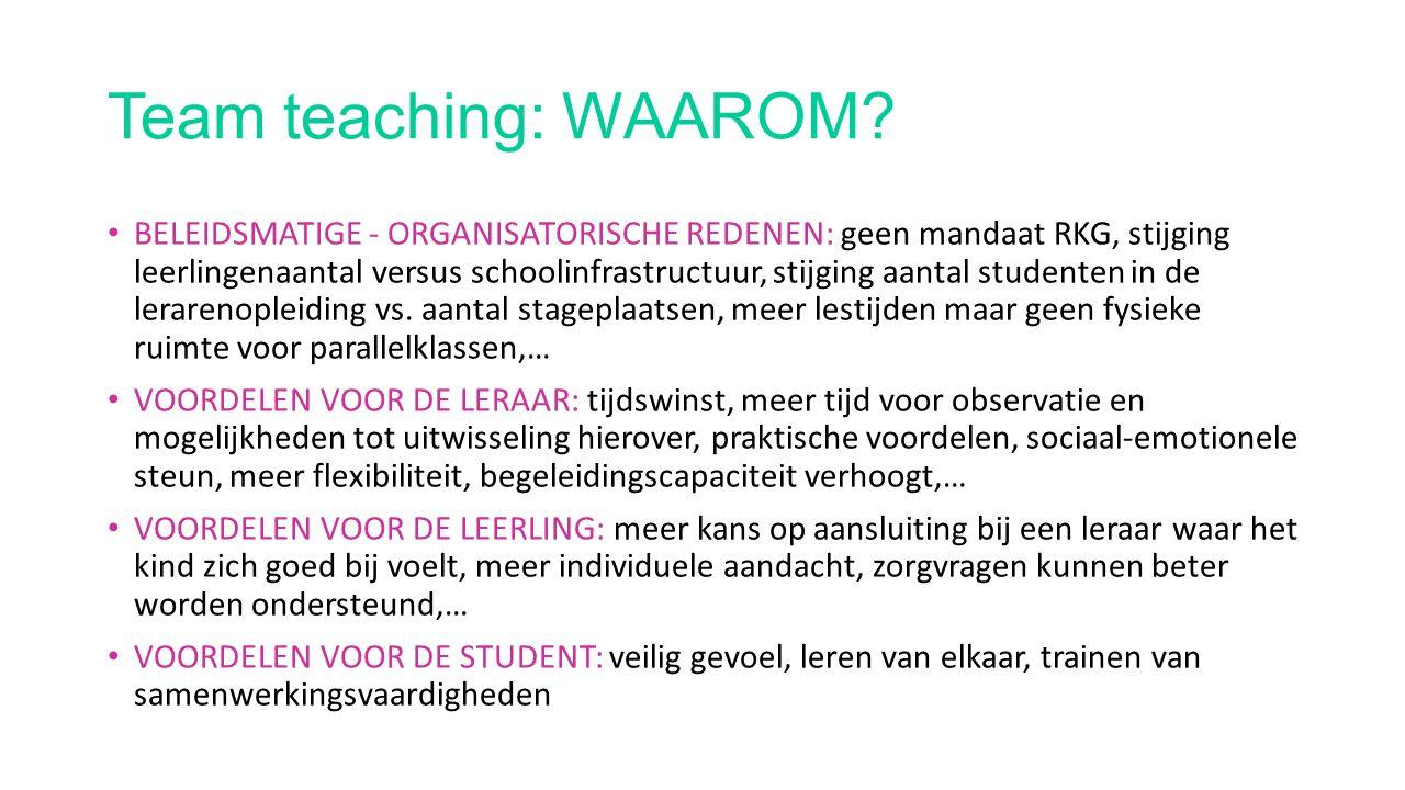 Team teaching: HOE.