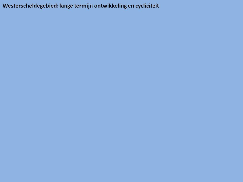 Westerscheldegebied: lange termijn ontwikkeling en cycliciteit
