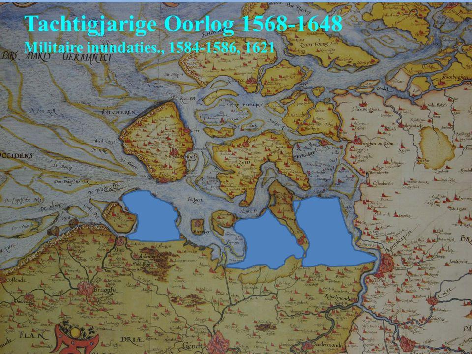 Tachtigjarige Oorlog 1568-1648 Militaire inundaties., 1584-1586, 1621