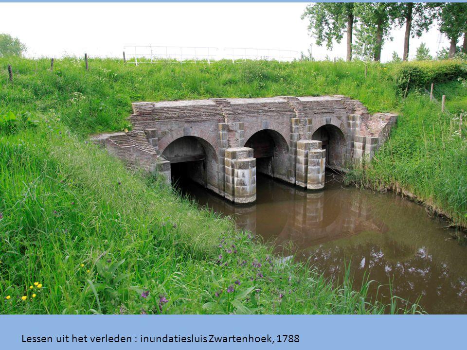 Lessen uit het verleden : inundatiesluis Zwartenhoek, 1788
