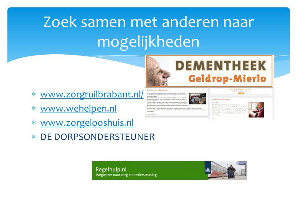  www.zorgruilbrabant.nl/ www.zorgruilbrabant.nl/  www.wehelpen.nl www.wehelpen.nl  www.zorgelooshuis.nl www.zorgelooshuis.nl  DE DORPSONDERSTEUNER