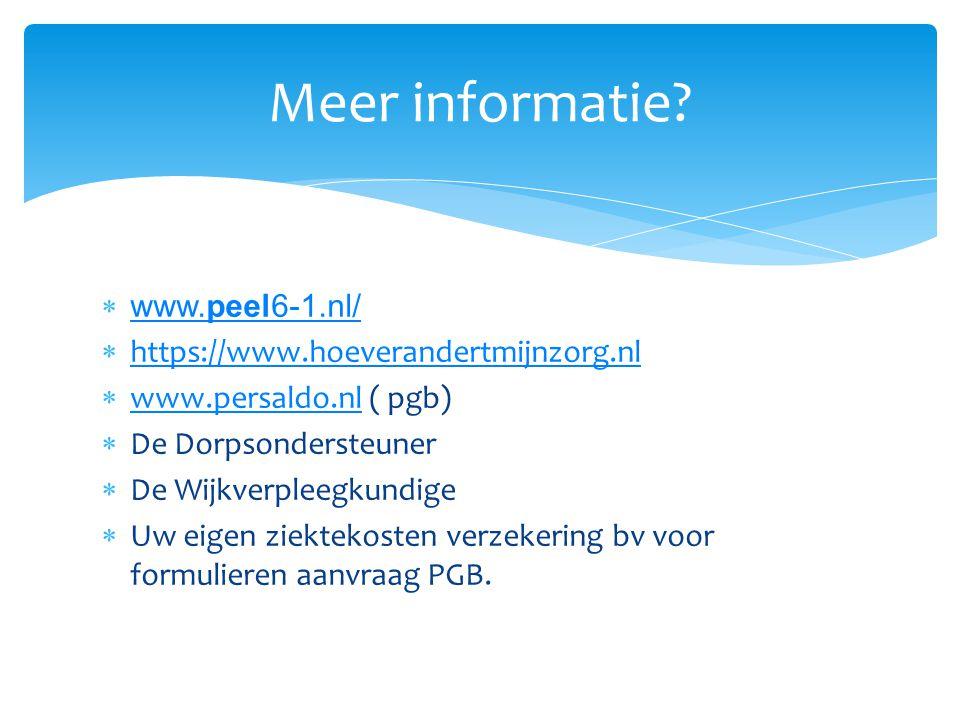  www.peel6-1.nl/ www.peel6-1.nl/  https://www.hoeverandertmijnzorg.nl https://www.hoeverandertmijnzorg.nl  www.persaldo.nl ( pgb) www.persaldo.nl 