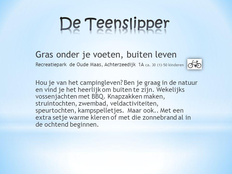 Gras onder je voeten, buiten leven Recreatiepark de Oude Maas, Achterzeedijk 1A ca. 30 (1)-50 kinderen Hou je van het campingleven? Ben je graag in de