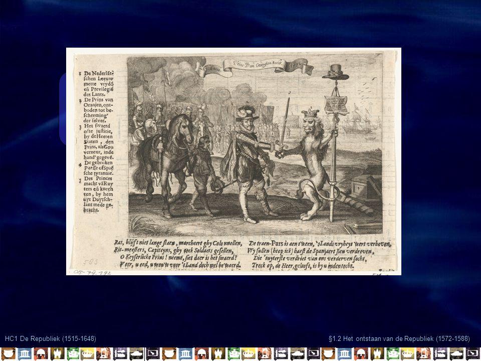 hallo hallo HC1 De Republiek (1515-1648) §1.2 Het ontstaan van de Republiek (1572-1588)