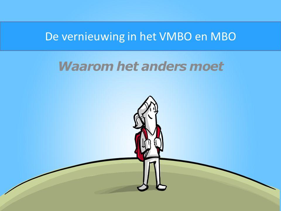 Waarom het anders moet De vernieuwing in het VMBO en MBO