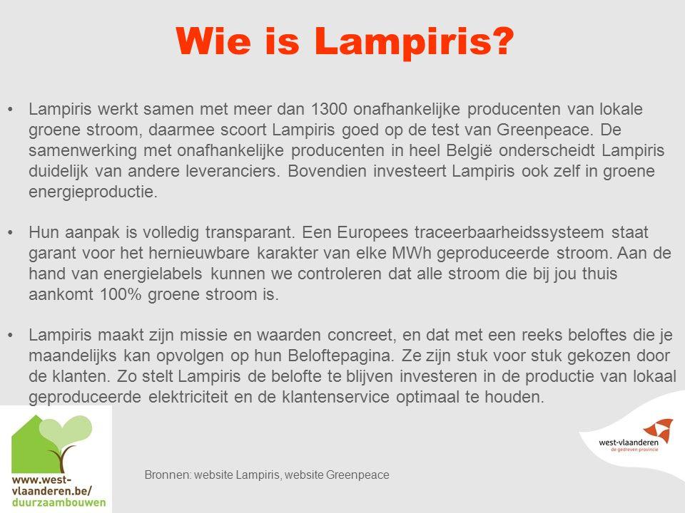 Wie is Lampiris.