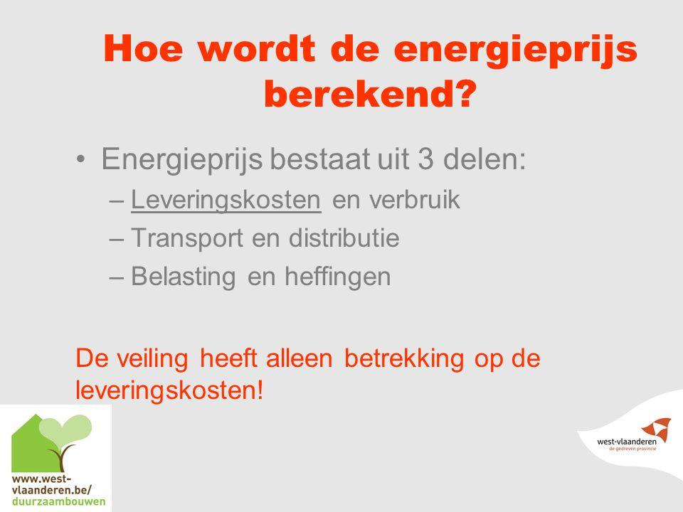 Hoe wordt de energieprijs berekend.