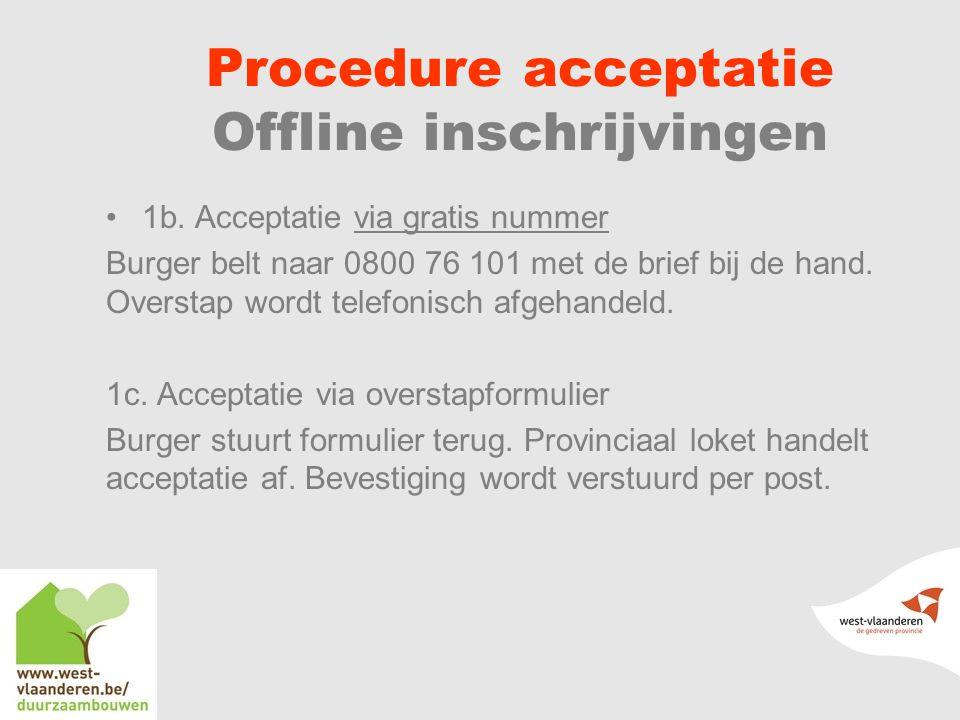 Procedure acceptatie Offline inschrijvingen 1b.