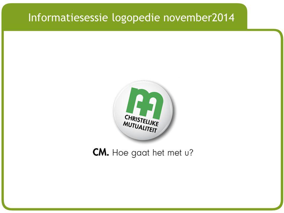 # Informatiesessie logopedie november2014