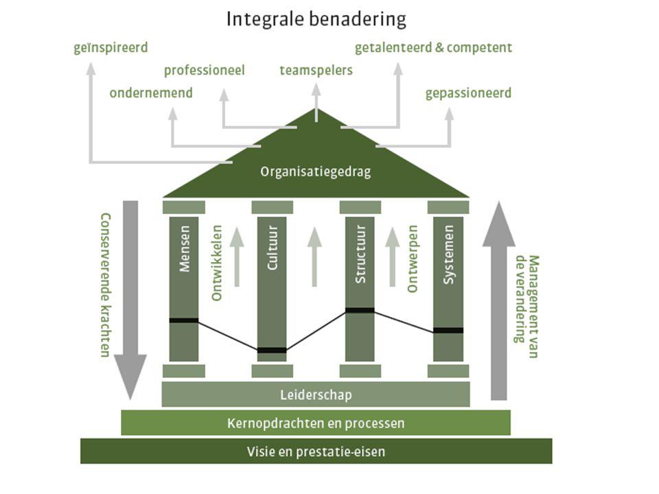 Innovatie, co-creatie Normen halen, productiviteit Samenwerking Efficiëntie, procedures Waarin het minimum halen.