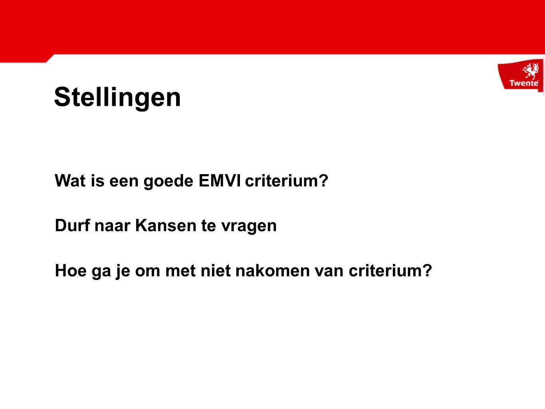 Stellingen Wat is een goede EMVI criterium.