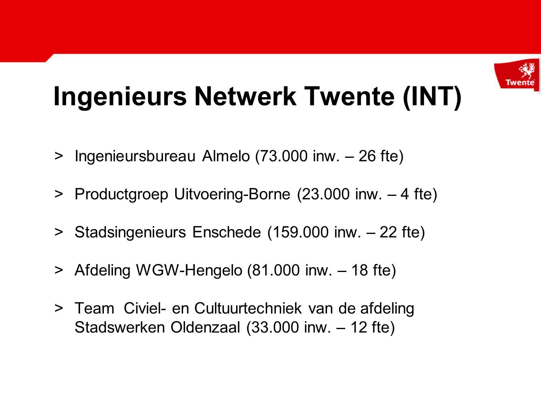 Ingenieurs Netwerk Twente Redenen: >Kwetsbaarheid verminderen >Kwaliteit versterken en borgen kwaliteit >Kansen voor medewerkers >Kosten - (mogelijk) vermindering inhuur >Kleur lokaal