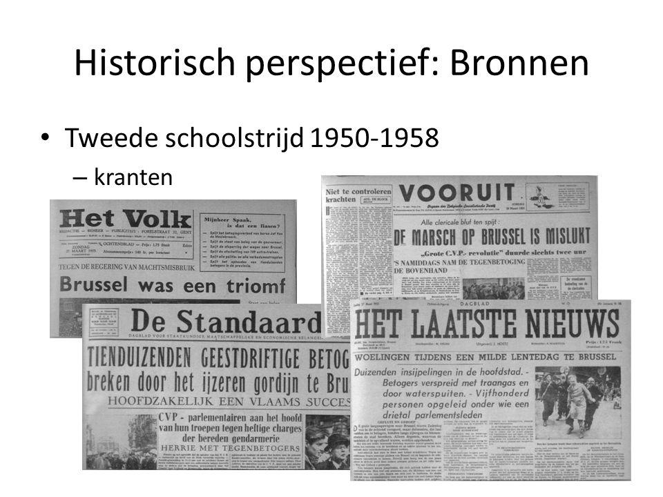 Historisch perspectief: Bronnen Tweede schoolstrijd 1950-1958 – kranten