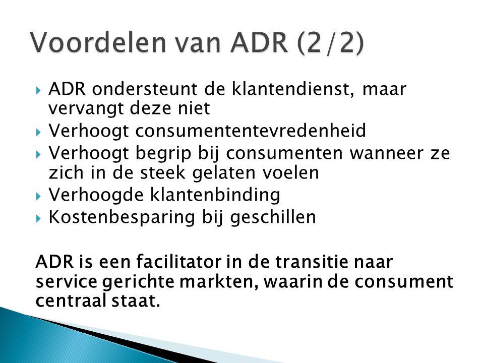  Ombudsdienst ◦ Korte inleiding tot ombudsdienten ◦ Één specifiek type van ADR (naast o.a.