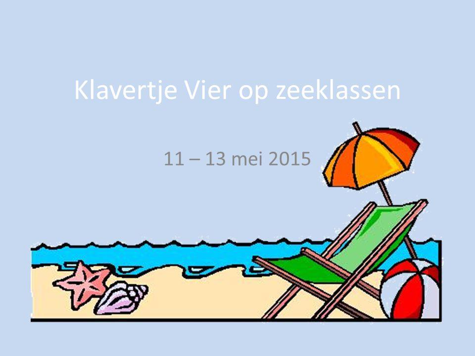 Klavertje Vier op zeeklassen 11 – 13 mei 2015