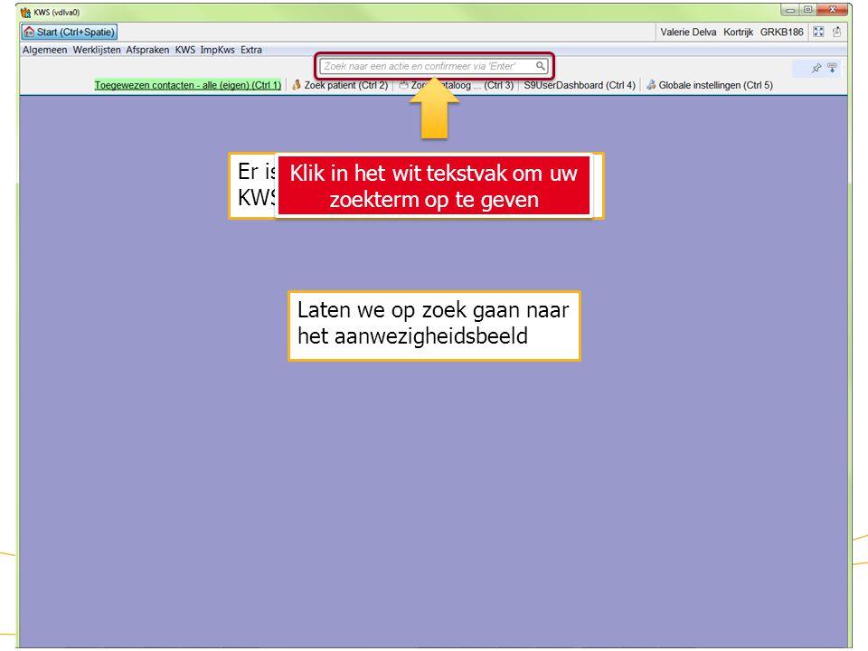 Zoekfunctie Er is een zoekfunctie beschikbaar in KWS.