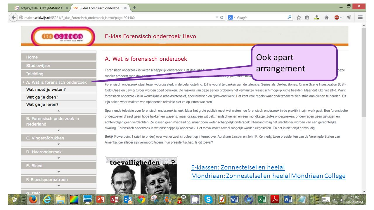 Ook apart arrangement E-klassen: Zonnestelsel en heelal Mondriaan: Zonnestelsel en heelal Mondriaan College
