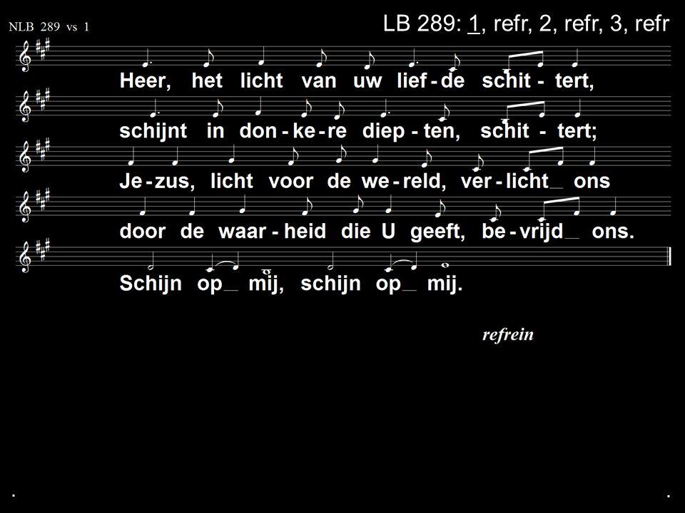 ... LB 289: 1, refr, 2, refr, 3, refr