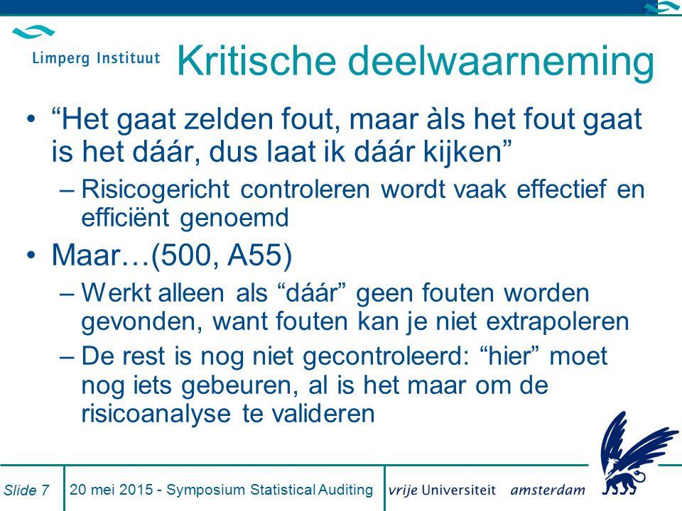 Steekproeven (530) Bedoeld om een conclusie te trekken over een populatie op grond van toetsing van een deel (500, A56) Statistisch of niet.
