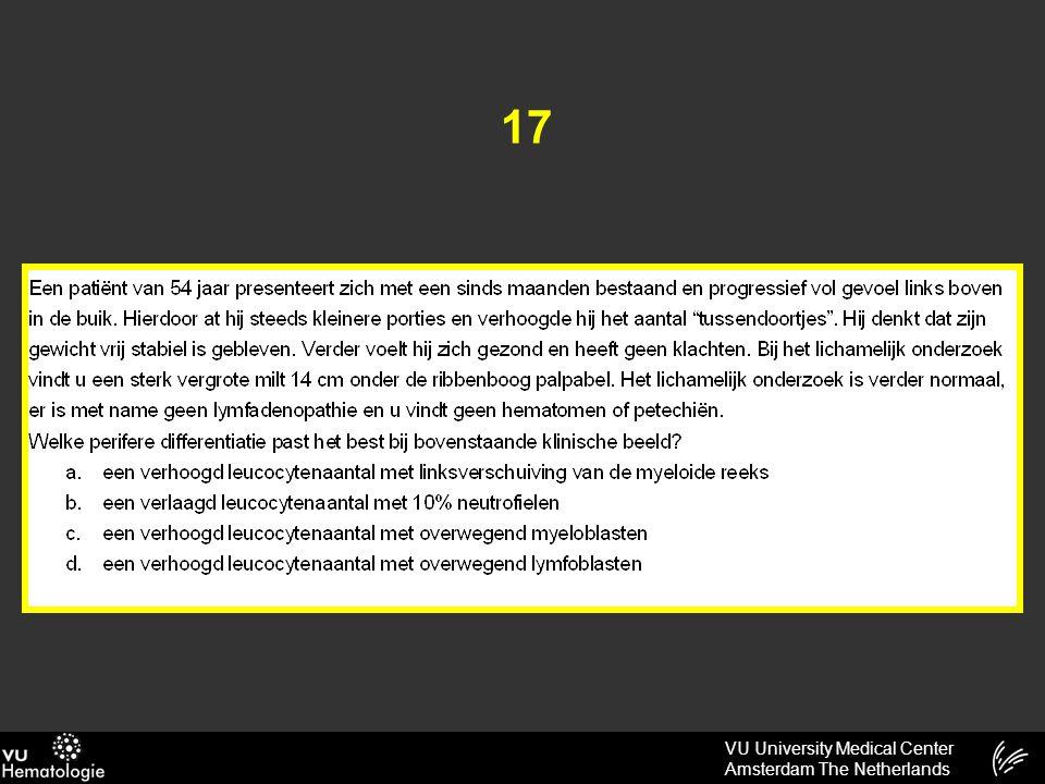 VU University Medical Center Amsterdam The Netherlands 17