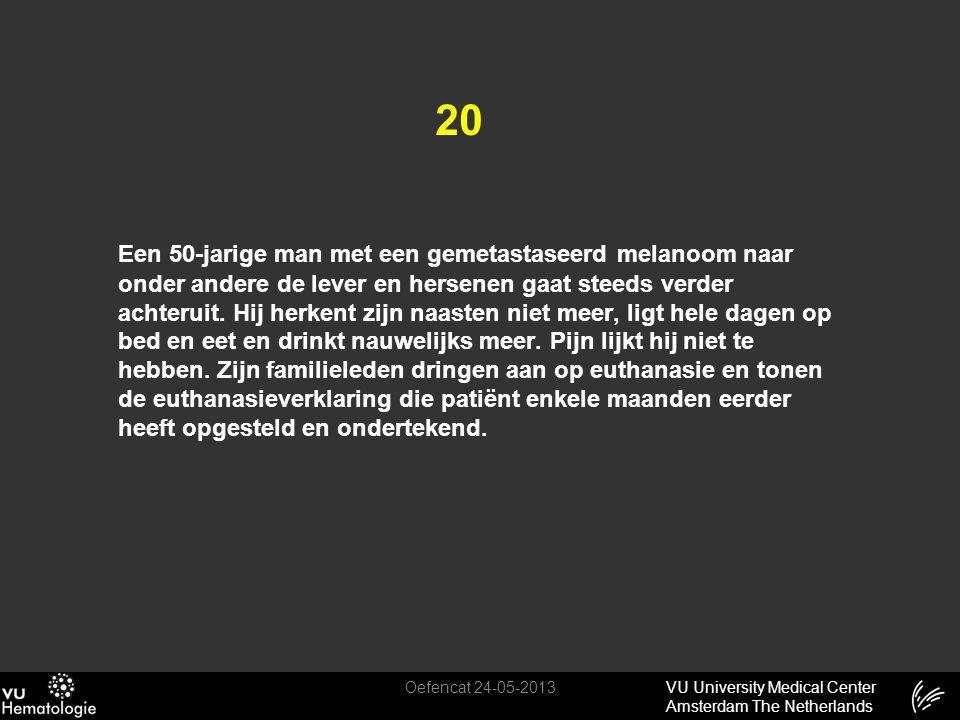 VU University Medical Center Amsterdam The Netherlands 20 Een 50-jarige man met een gemetastaseerd melanoom naar onder andere de lever en hersenen gaa