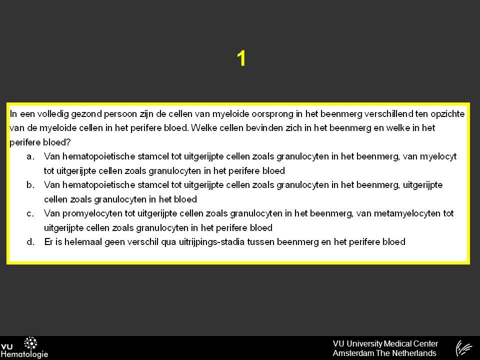 VU University Medical Center Amsterdam The Netherlands 2 De absolute incidentie van kanker is het hoogst in de leeftijdsgroep: a)15 – 49 jaar b)50 – 74 jaar c)75+ jaar Oefencat 24-05-2013 8-6-2015