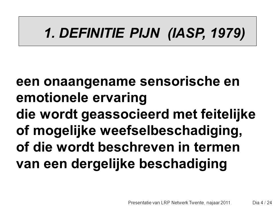 PIJN GEWAAR- WORDING ziekte / pijn- gedrag (coping stijl) sociale omgeving ideeën (cognities) pijn / functioneren emoties (affecties) bij pijn / functioneren psychosociale factoren bij pijn.