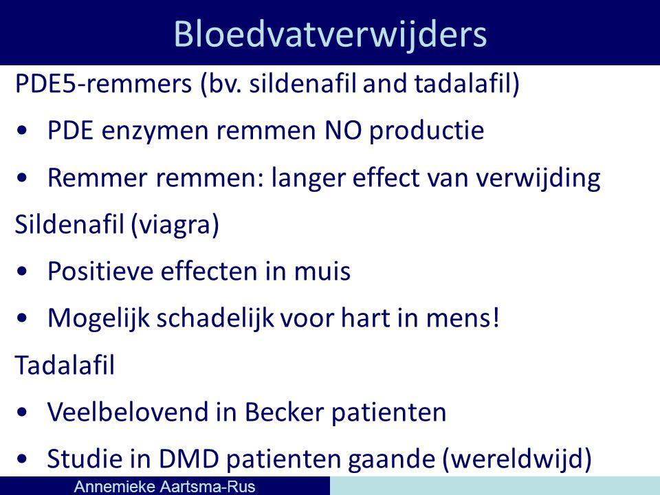 Bloedvatverwijders Annemieke Aartsma-Rus PDE5-remmers (bv.