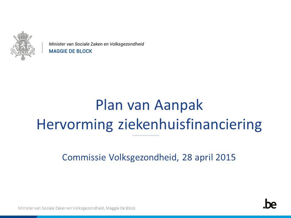 Minister van Sociale Zaken en Volksgezondheid, Maggie De Block Plan van Aanpak Hervorming ziekenhuisfinanciering Commissie Volksgezondheid, 28 april 2