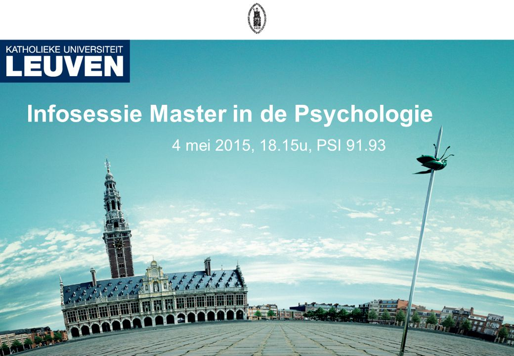 Afstudeerrichtingen 12 Master in de psychologie Arbeids- en organisatie- psychologie Klinische en gezondheids- psychologie Theorie en onderzoek School- psychologie Optie Volwasssenen Optie Kinderen en Adolescenten
