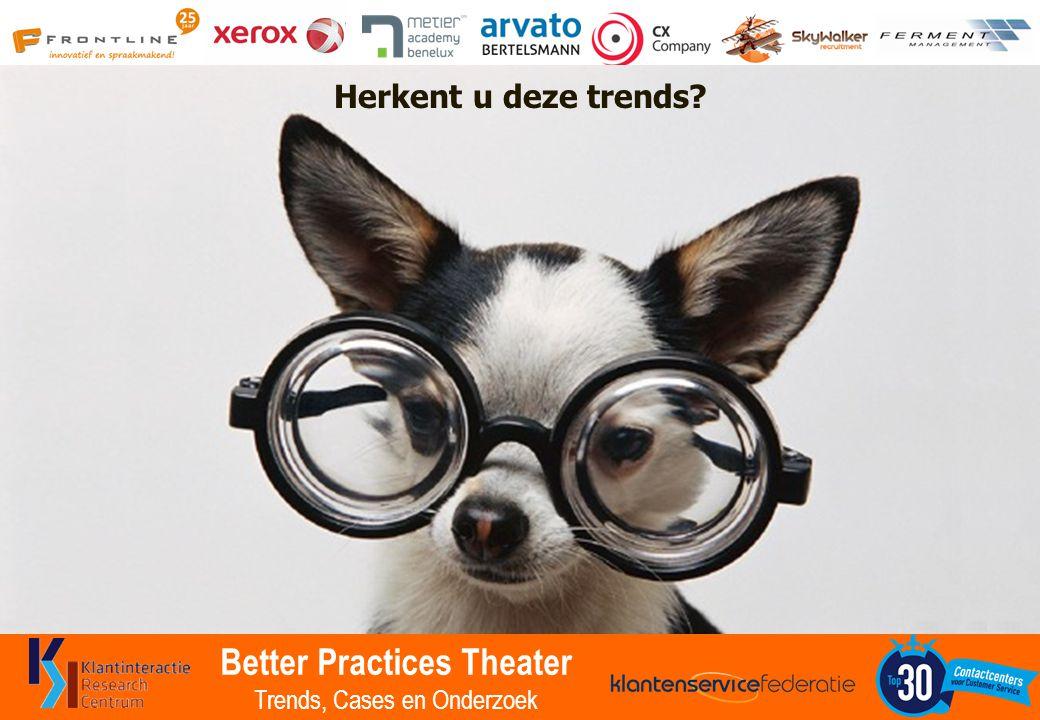Better Practices Theater Trends, Cases en Onderzoek Herkent u deze trends