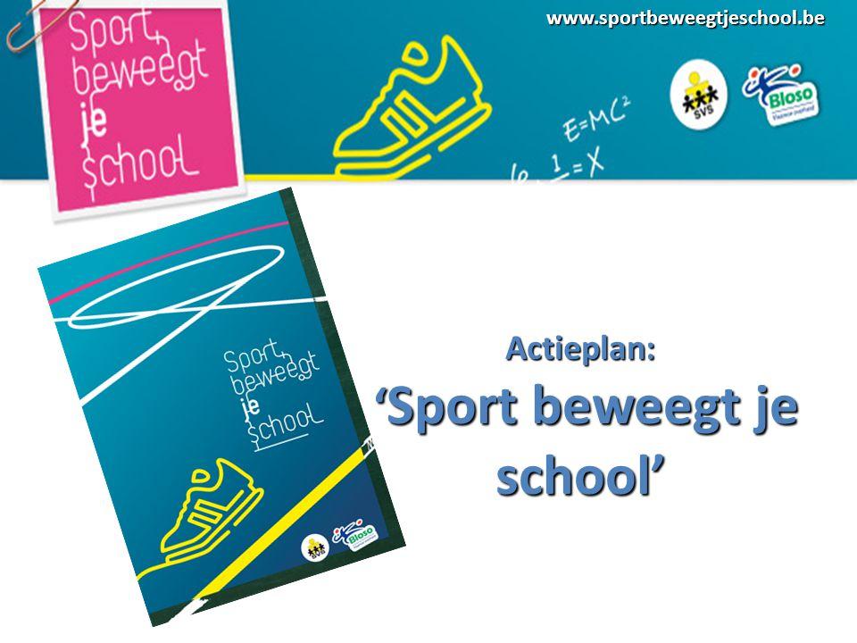 www.sportbeweegtjeschool.beActieplan: ' Sport beweegt je school' ' Sport beweegt je school'