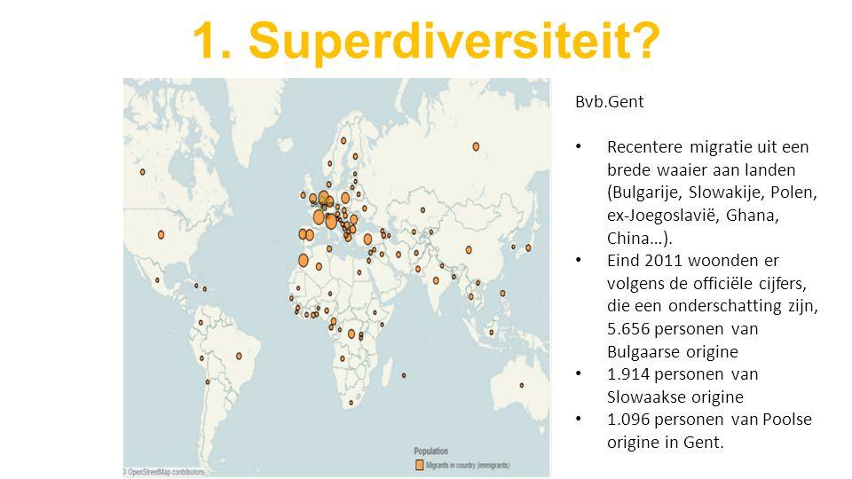 Bvb.Gent Recentere migratie uit een brede waaier aan landen (Bulgarije, Slowakije, Polen, ex-Joegoslavië, Ghana, China…).