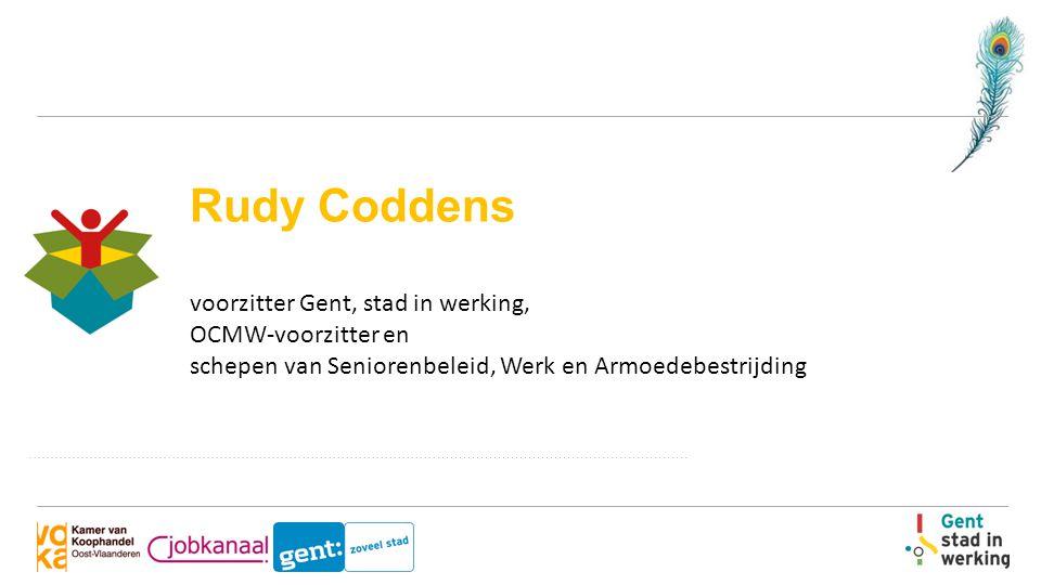 Rudy Coddens voorzitter Gent, stad in werking, OCMW-voorzitter en schepen van Seniorenbeleid, Werk en Armoedebestrijding