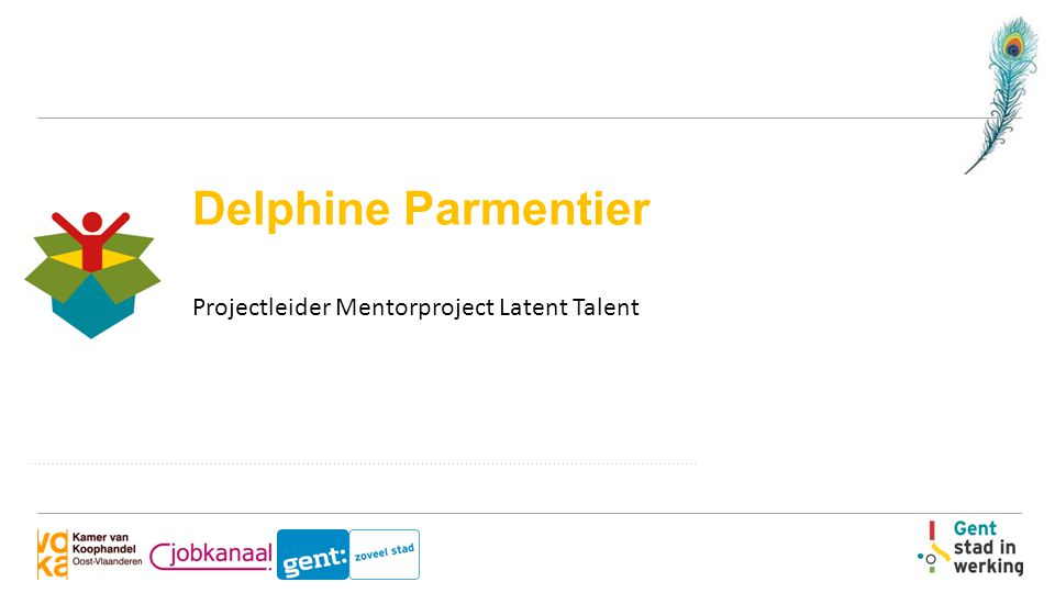 Delphine Parmentier Projectleider Mentorproject Latent Talent