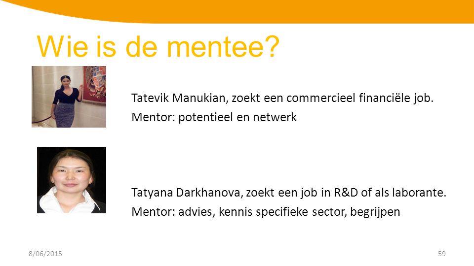 8/06/201559 Tatevik Manukian, zoekt een commercieel financiële job.