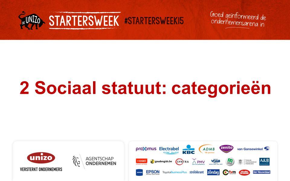 2 Sociaal statuut: categorieën