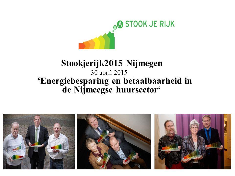Stookjerijk2015 Nijmegen 30 april 2015 'Energiebesparing en betaalbaarheid in de Nijmeegse huursector'