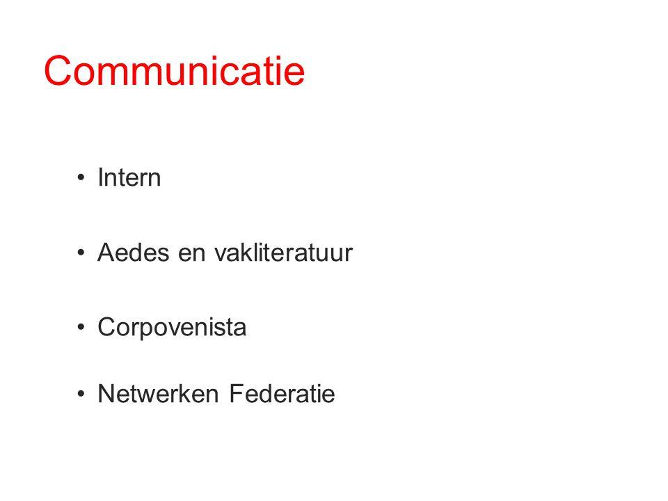 Communicatie Intern Aedes en vakliteratuur Corpovenista Netwerken Federatie
