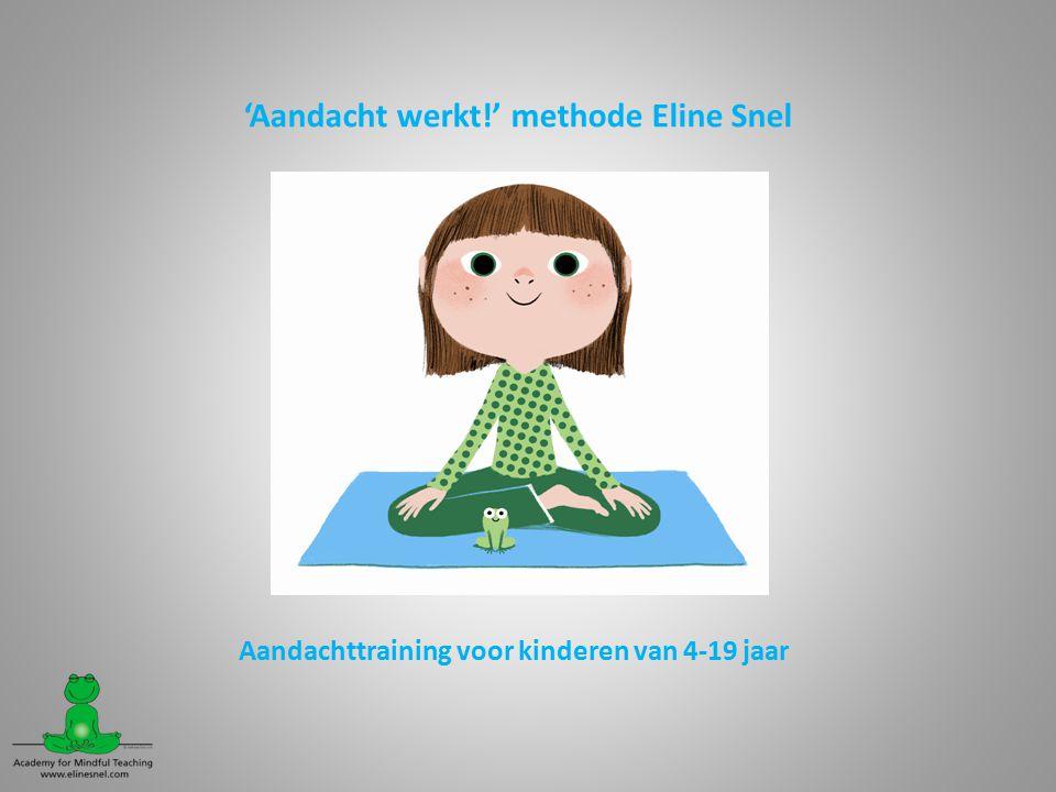 'Aandacht werkt!' methode Eline Snel Aandachttraining voor kinderen van 4-19 jaar