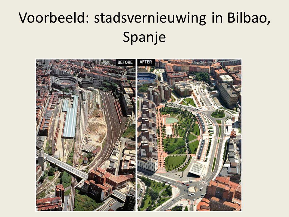 Voorbeeld: stadsvernieuwing in Bilbao, Spanje