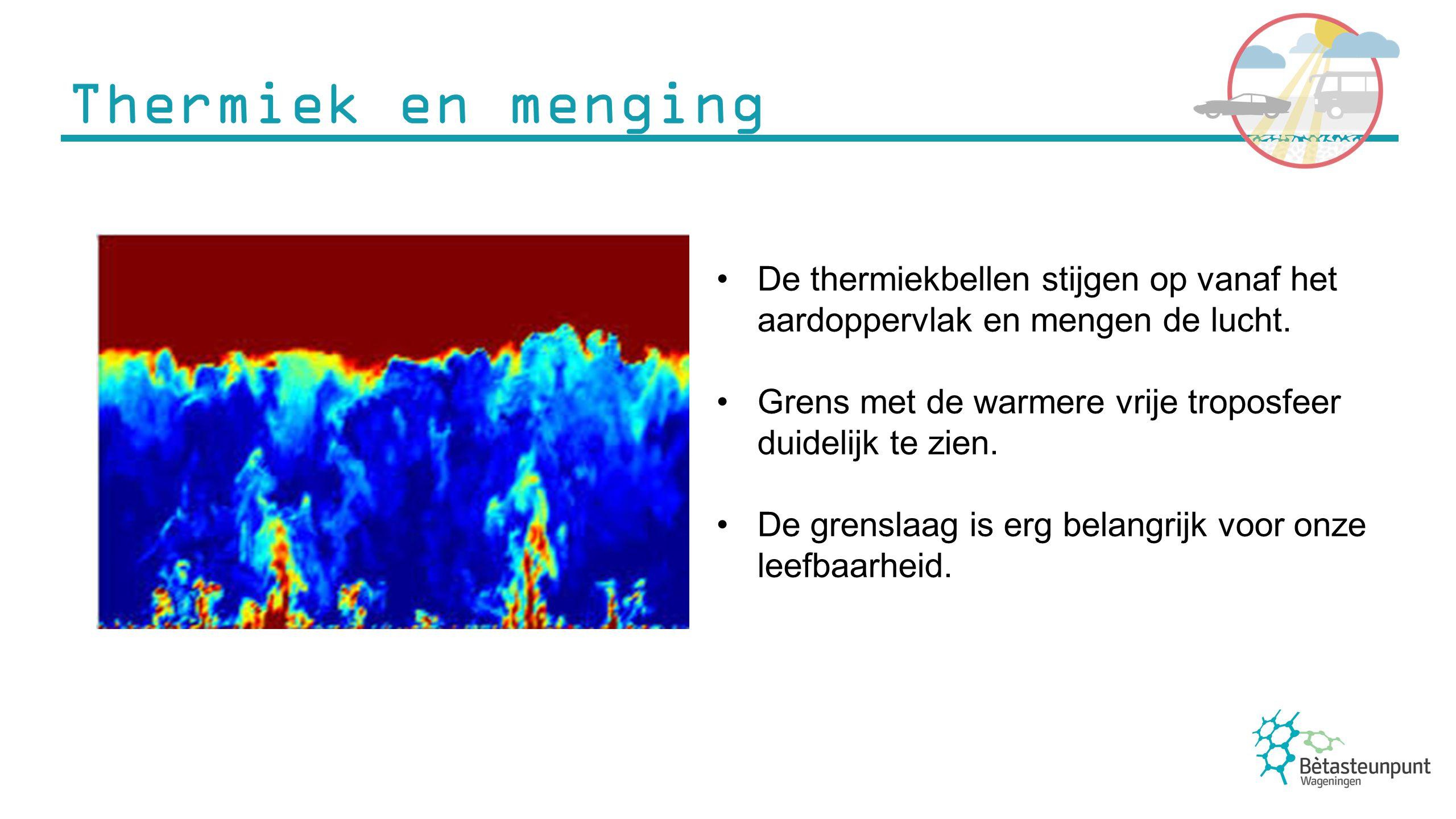 Grenslaagwolken komen alleen laag in de atmosfeer voor.
