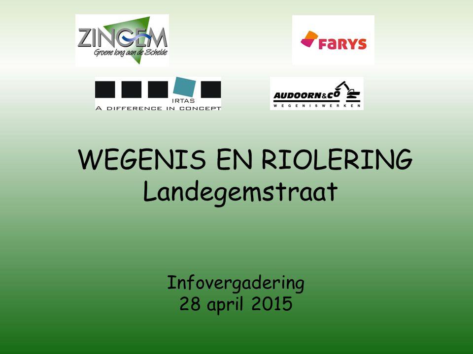 WEGENIS EN RIOLERING Landegemstraat Infovergadering 28 april 2015