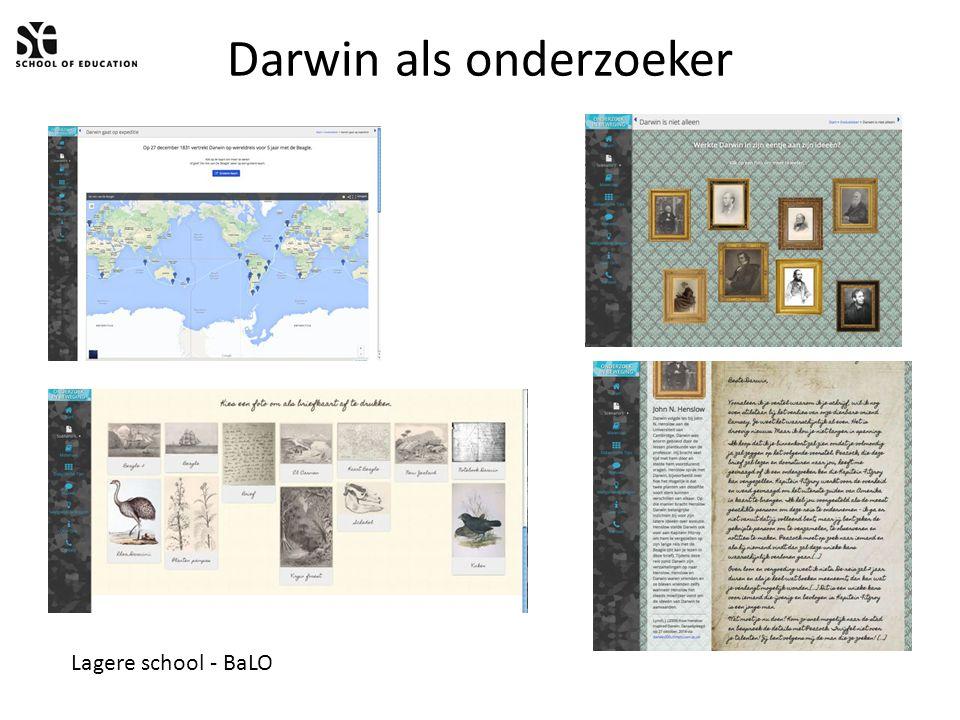 Darwin als onderzoeker Lagere school - BaLO