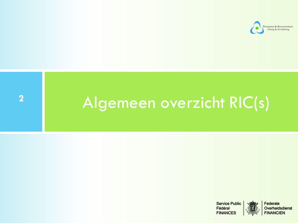 Algemeen overzicht RIC(s) 2