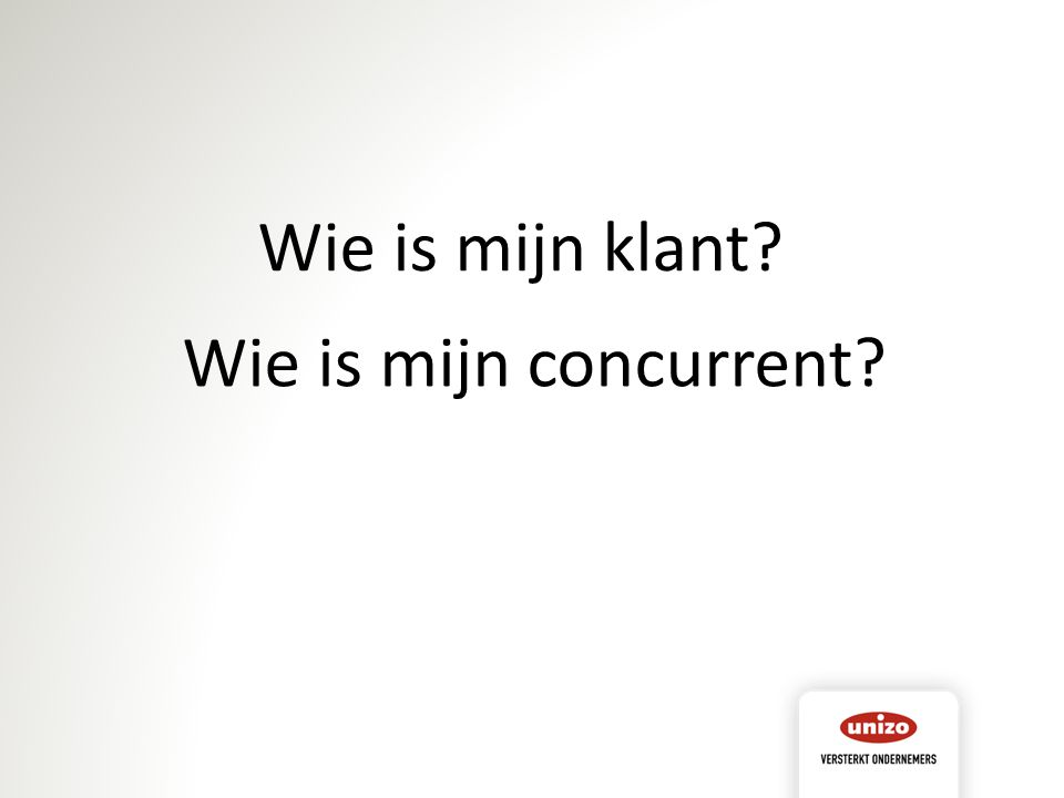 Wie is mijn concurrent