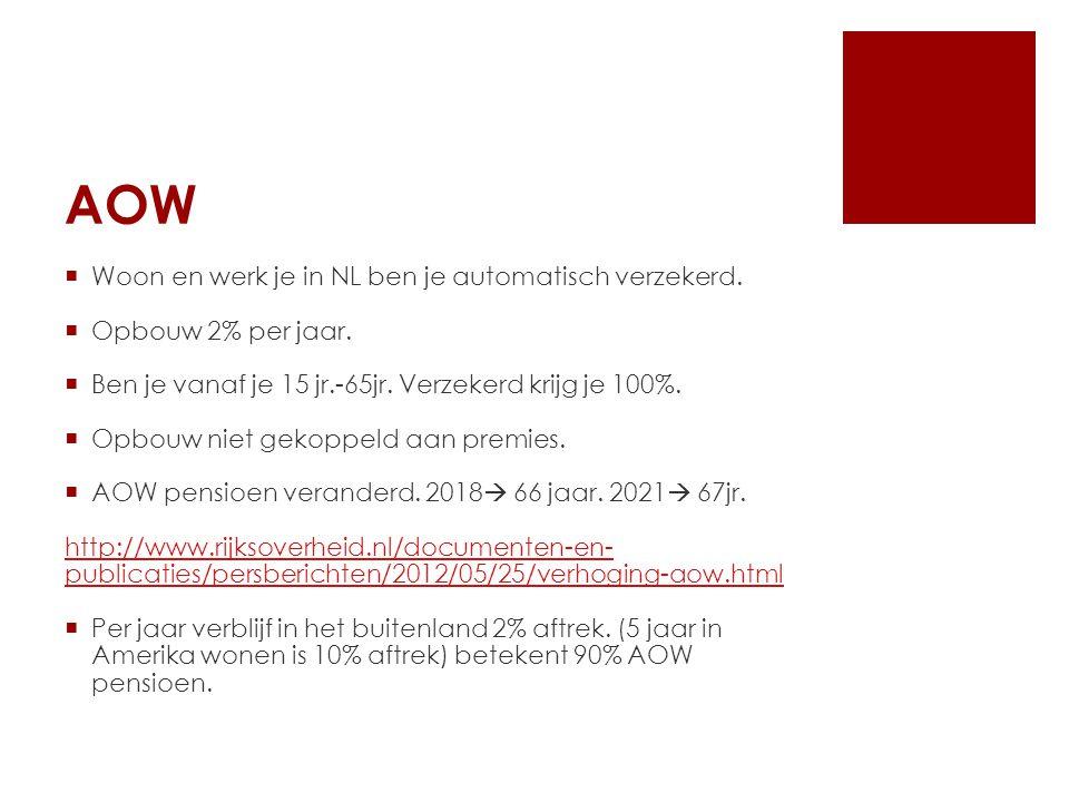 AOW  AOW financiering ''omslagsysteem''.D.w.z.