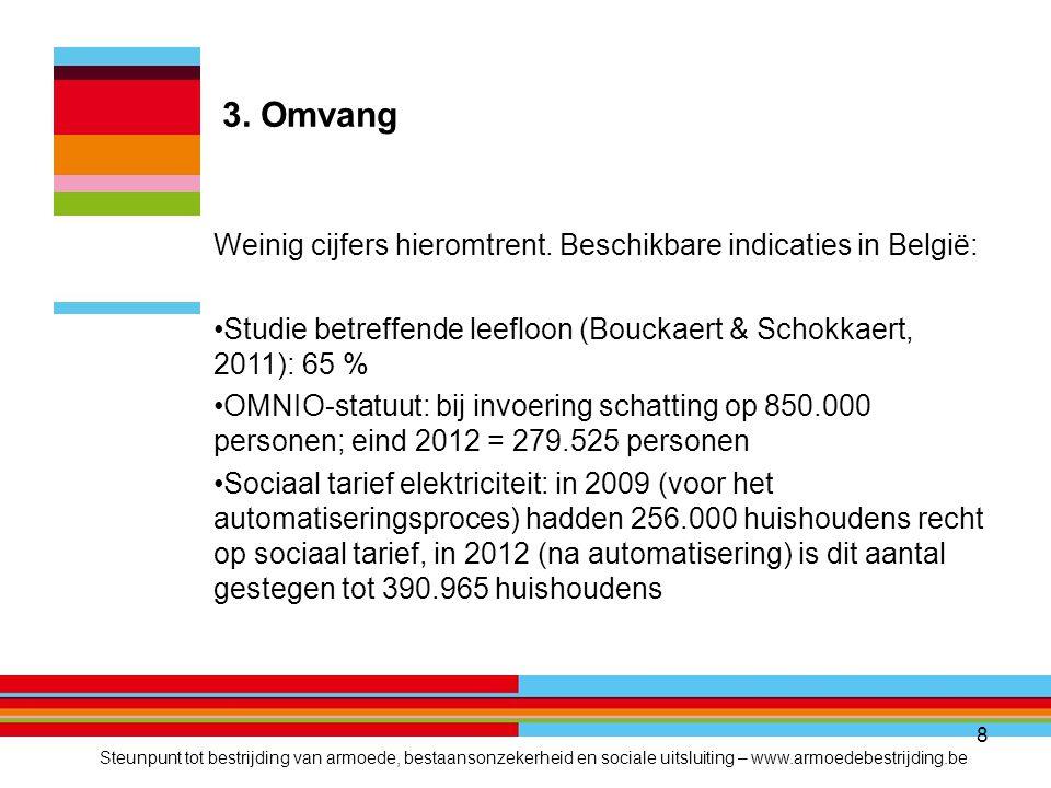 8 3. Omvang Weinig cijfers hieromtrent.