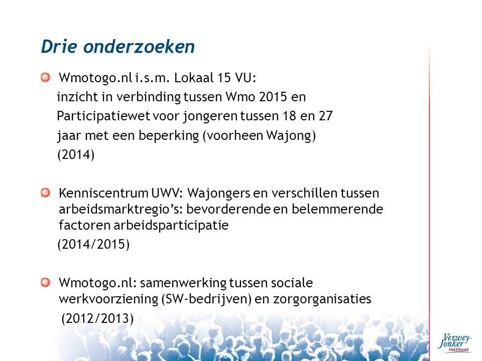 Drie onderzoeken Wmotogo.nl i.s.m.
